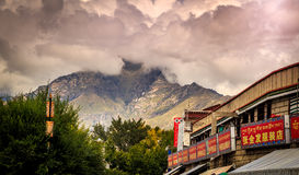 View of Lhasa in Tibet Stock Photos