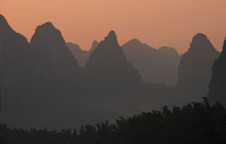 View of Li River at Xingping Royalty Free Stock Photos