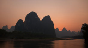 View of Li River at Xingping Royalty Free Stock Photography