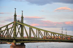 View of the Liberty bridge in Budapest, Hungary Royalty Free Stock Photos