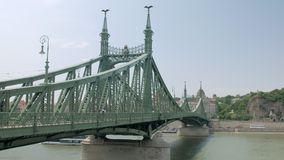 View on Liberty Bridge in Budapest in summer day stock footage
