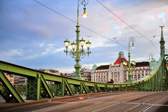 View of the Liberty bridge in centre of Budapest Royalty Free Stock Photo