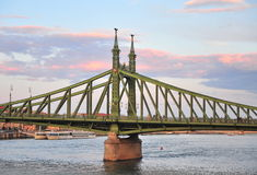 View of the Liberty bridge in centre of Budapest Stock Images