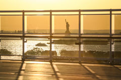 View of Liberty Statue from ship stock image