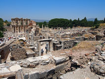 View of the Library of Celsus, Ephesus, Turkey Royalty Free Stock Photography