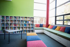 View of library in a wide angle Royalty Free Stock Photography