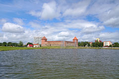 View of Lida Castle, Belarus Royalty Free Stock Photos