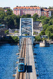 View of Lidingo Bridge of Stockholm Royalty Free Stock Photos