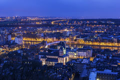 View on Liege in Belgium Royalty Free Stock Photography