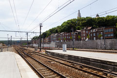 View of Liege from a railway station Royalty Free Stock Photo