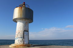 View lighthouse şile istanbul Royalty Free Stock Photo