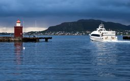 View on lighthouse in Alesund, Norway Royalty Free Stock Image