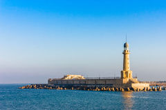 A view of the lighthouse at Alexandria, Egypt Royalty Free Stock Photography
