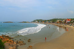 View of the Lighthouse beach in Kovalam. Kerala. India stock photo