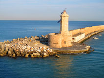 View on the lighthouse and harbur. Stock Photography