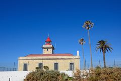 Ponta da Piedade lighthouse, Portugal. Royalty Free Stock Images