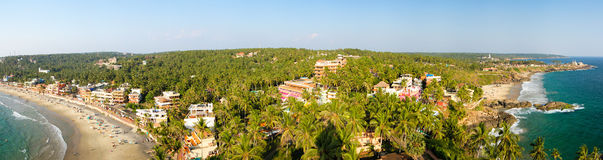 View from the lighthouse in Kovalam. View from the lighthouse at resort Kovalam, Kerala, India stock image