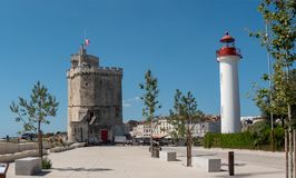 View of the lighthouse of La Rochelle in France royalty free stock photography