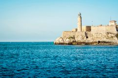 Lighthouse in Cuba. View of the Lighthouse from Malecon in Havana Cuba Royalty Free Stock Photos