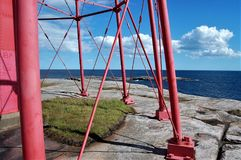 View from the lighthouse. An old lighthouse at the tip of the archipelago Stock Photos