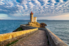 View of the lighthouse Phare du Petit Minou in Plouzane, Brittan Royalty Free Stock Photography