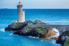 View of the lighthouse Phare du Petit Minou in Plouzane, Brittan Stock Image