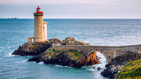 View of the lighthouse Phare du Petit Minou in Plouzane, Brittan Stock Images