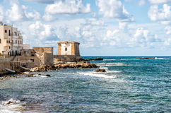 View of Ligny Tower in Trapani, Sicily Stock Photo