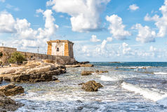 View of Ligny Tower in Trapani, Sicily Royalty Free Stock Photography