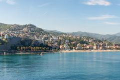 View of the Ligurian Coast. Landscape in the surroundings of Savona, Liguria, Italy Stock Images