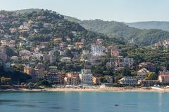 View of the Ligurian Coast. Landscape in the surroundings of Savona, Liguria, Italy Royalty Free Stock Photo