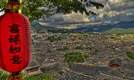 View of Lijiang Yunnan China Stock Image