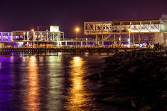 View of Limassol cityscape and waterfront at night Royalty Free Stock Photos