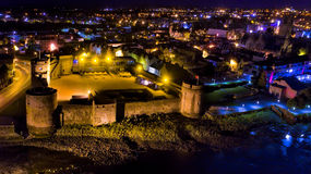 View of Limerick city at night, Ireland. Stock Photo