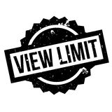 View Limit rubber stamp. Grunge design with dust scratches. Effects can be easily removed for a clean, crisp look. Color is easily changed Royalty Free Stock Images