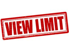 View limit. Stamp with text view limit inside, illustration stock illustration