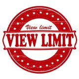 View limit. Stamp with text view limit inside, illustration vector illustration