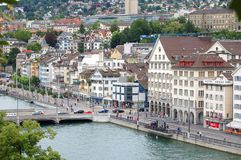 Limmat River from Lindenhof - Zurich. View of the Limmat River from Lindenhof - Zurich, Switzerland, 13 July 2008 Stock Photos