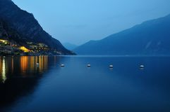 View from limone at lake garda Royalty Free Stock Photo
