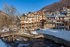 View of Limone Piemonte. Royalty Free Stock Photography