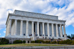 View of Lincoln Memorial with the names of American States. Washington DC, USA. Stock Images