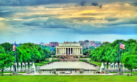 View of the Lincoln Memorial on the National Mall in Washington, D.C. Stock Image