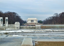 View of the Lincoln  Monument Royalty Free Stock Images