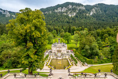 View at the Linderhof castle Stock Image