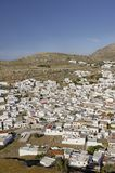 View of Lindos Stock Photography
