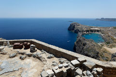 View from Lindos acropolis Royalty Free Stock Photo