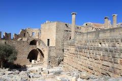 View of Lindos Acropolis Stock Photos