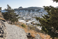 View from the Lindos Castle Stock Photography