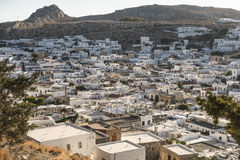 View from the Lindos Castle Royalty Free Stock Images