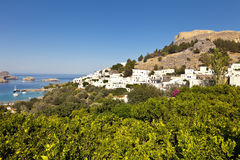 View of lindos Royalty Free Stock Images